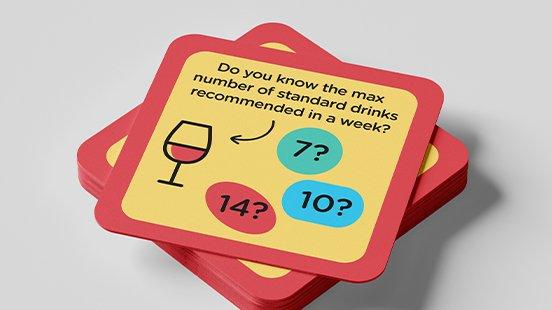 Standard drinks coasters