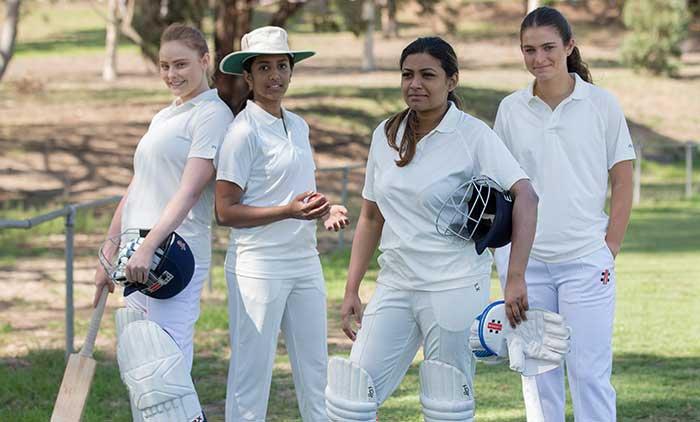 Women's Cricket Team posing